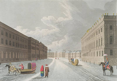 Street Drawing - View Of The Marble Palace In The Grand by Mornay