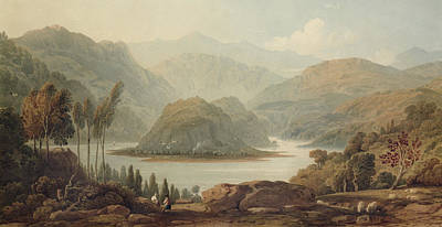 View Of The Mondego River Print by John Varley