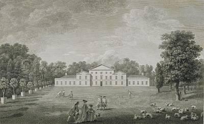 Garden Drawing - View Of The Palace At Kew by John Joshua Kirby