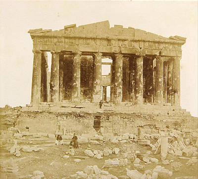 Realistic Photograph - View Of The Parthenon From The West by James Robertson