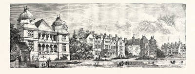 Projects Drawing - View Of The Projected New Central Infirmary At Derby by English School