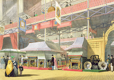 View Of The Sheffield Hardware Stand Print by English School