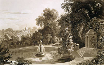 House Plant Drawing - View Of The Temple Of Suryah by John Martin