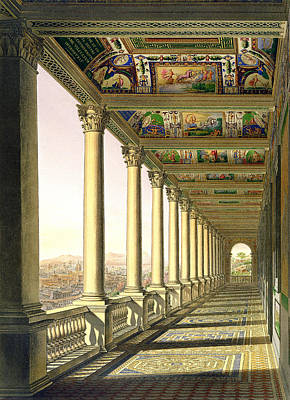 View Of The Third Floor Loggia Print by Italian School
