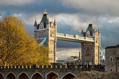 Tower Of London Photograph - View Of The Tower Bridge by Brian Jannsen