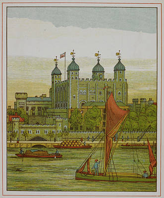 Tower Of London Photograph - View Of The Tower Of London by British Library