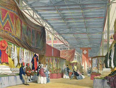 View Of The Tunisian Stand Print by English School