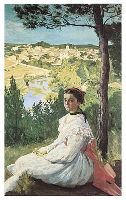 Grils Painting - View Of The Village by Frederic Bazille