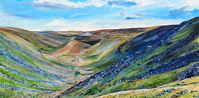 View Of Troutbeck From Stony Cove Pike The Lake District Print by Robina Osbourne