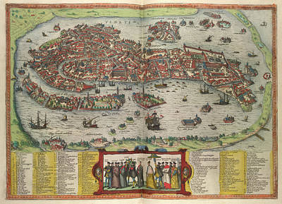 View Of Venice Print by British Library