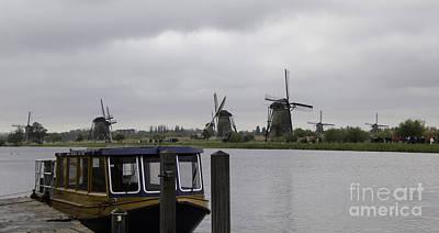 View Of Windmills Kinderdijk Holland Print by Teresa Mucha