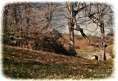 View Off The Blue Ridge Parkay Print by Sandra Clark