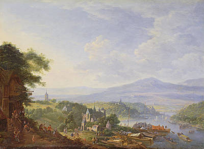Merchandise Painting - View On The Rhine, Near Cologne by Jan the Elder Griffier
