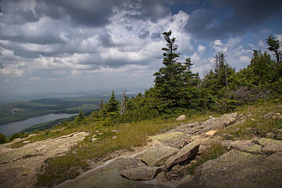 Cadilac Photograph - View On Top Of Cadilac Mountain In Acadia National Park by Randall Nyhof