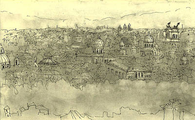 View Over Roma Print by Mikko Tilus