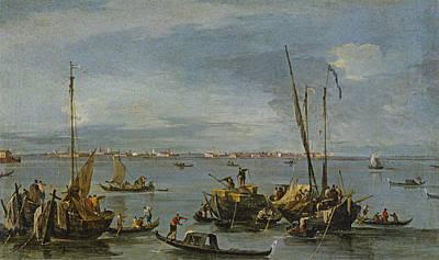 View Towards Murano From The Fondamente Print by Francesco Guardi