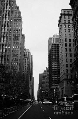 View Up 6th Ave Avenue Of The Americas From Herald Square In The Evening New York City Winter Print by Joe Fox