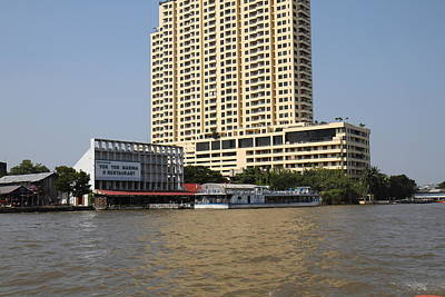 Views From A River Boat Taxi In Bangkok Thailand - 011313 Print by DC Photographer