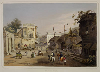 Lithographs Photograph - Views Of Calcutta And Its Environs by British Library
