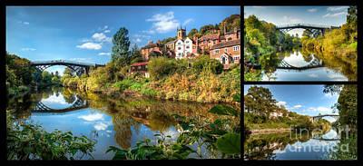 Views Of Ironbridge Print by Adrian Evans