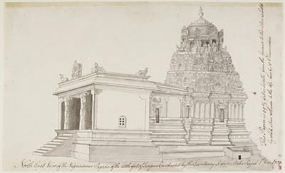 Vighnesvara Temple In Tanjore Print by British Library