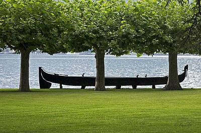 Viking Boat Print by Cheri Randolph