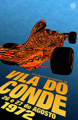 Icon Reproductions Digital Art - Vila Do Conde Portugal 1972 Grand Prix by Georgia Fowler