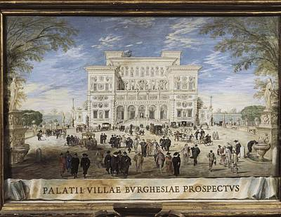 1636 Photograph - Villa Borghese. 1636. Tempera by Everett