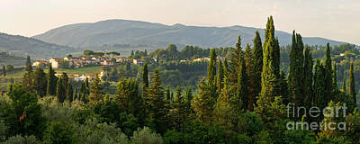 Village And Cypresses Print by Francesco Emanuele Carucci
