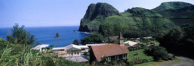 Village At A Coast, Kahakuloa, Highway Print by Panoramic Images