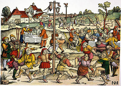 Bagpipes Painting - Village Celebration, C1530 by Granger
