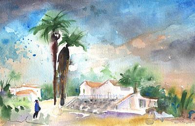Lanzarote Painting - Village In Lanzarote 04 by Miki De Goodaboom