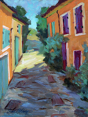 Temple Painting - Village In Provence by Diane McClary