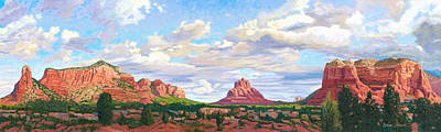 Village Of Oak Creek - Sedona Print by Steve Simon