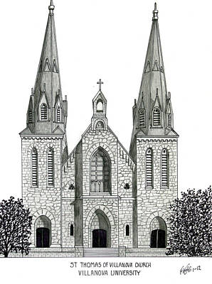 Villanova University Print by Frederic Kohli