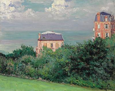 Tranquil Painting - Villas At Villers-sur-mer by Gustave Caillebotte