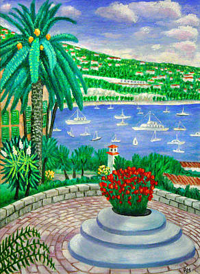 South Of France Painting - Villefranche Sur Mer---cote-d'azur by Ronald Haber