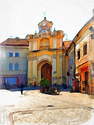 Vilnius Old Town 33 Print by Yury Malkov