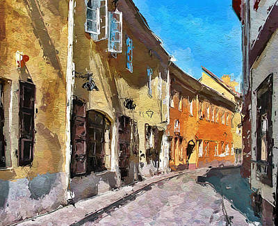 Vilnius Old Town 35 Print by Yury Malkov