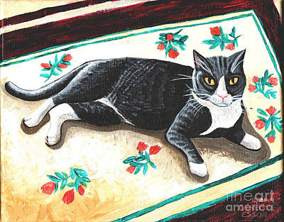 Animal Shelter Painting - Vincent Van Hoopcat by Genevieve Esson