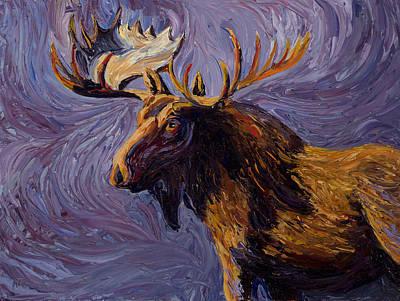 Vincent Van Moose Print by Mary Giacomini