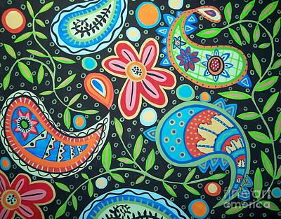 Vines Painting - Vine Paisley by Karla Gerard