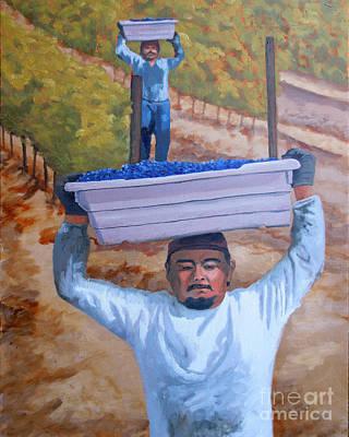 Vineyard Harvest II Print by Donna Schaffer