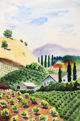 Vineyard Original by Masha Batkova