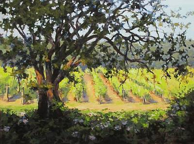 Vineyards Edge Print by Karen Ilari