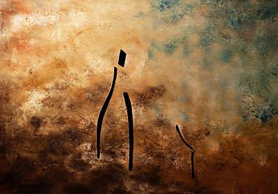 Vino De Arte Moderno Print by Carmen Guedez