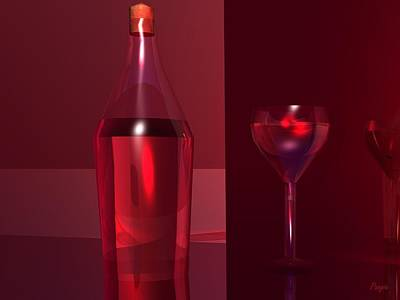 Wine Digital Art - Vino by John Pangia