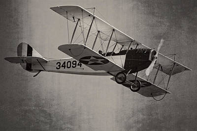 Vintage 1917 Curtiss Jn-4d Jenny Flying  Print by Keith Webber Jr
