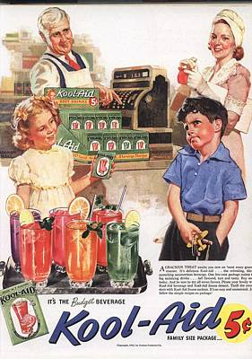 Vintage 1950s Kool-aid Advert Print by Georgia Fowler