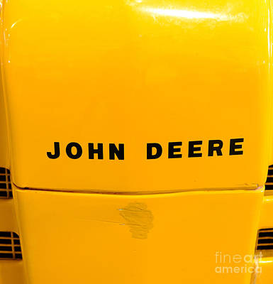 Vintage 1952 John Deere Tractor In Yellow Print by Paul Ward